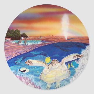 turtles nest classic round sticker
