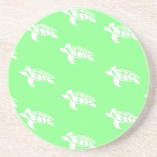 Turtles on Sea Green Coaster