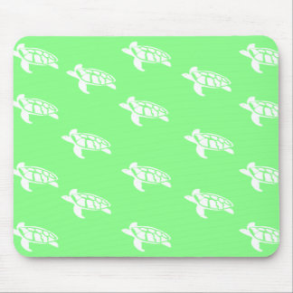 Turtles on Sea Green Mouse Pad