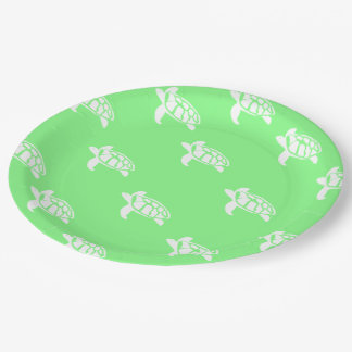 Turtles on Sea Green Paper Plate