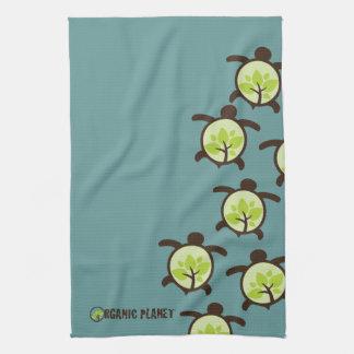 Turtles Organic Planet Custom Kitchen Bath Towel