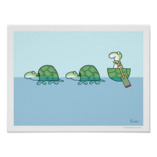 TURTLES PADDLING poster by Sandra Boynton