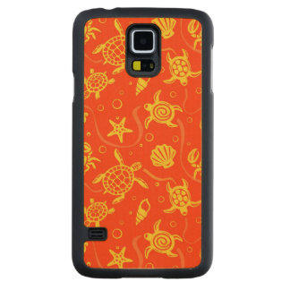 Turtles Pattern Carved Maple Galaxy S5 Case