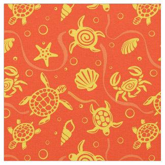Turtles Pattern Fabric