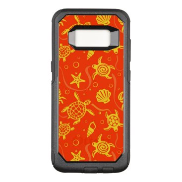 Beach Themed Turtles Pattern OtterBox Commuter Samsung Galaxy S8 Case