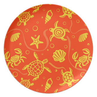 Turtles Pattern Party Plates
