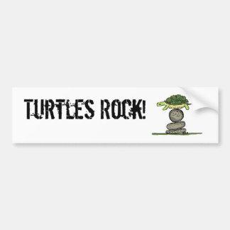 Turtles Rock! Car Bumper Sticker