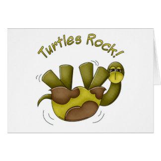 Turtles Rock Greeting Cards