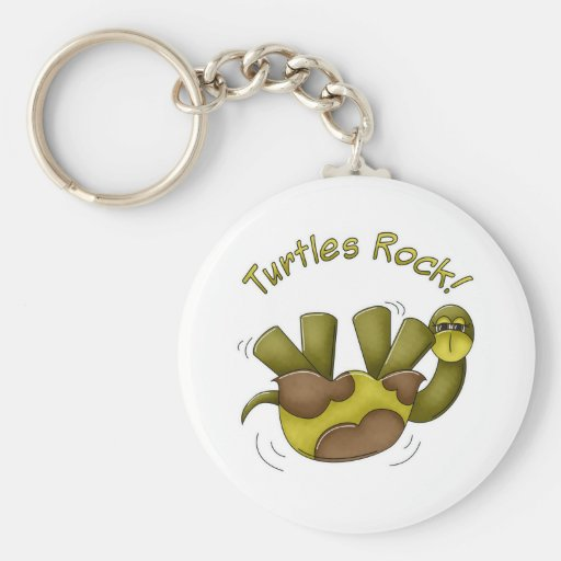 Turtles Rock Keychain