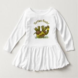 Turtles Rock Moss Green Neutral Animal Children Dress
