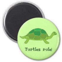 Turtles rule! magnet