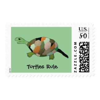 Turtles Rule Postage Stamps