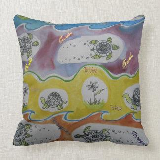 Turtles Tortoises Terrapins Throw Pillow