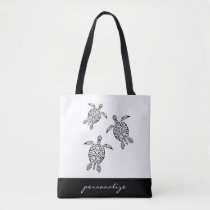 Turtles Tribal Tatoo Animal Tote Bag