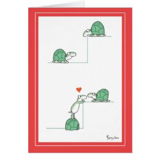 Turtles Valentines By Boynton Card at Zazzle