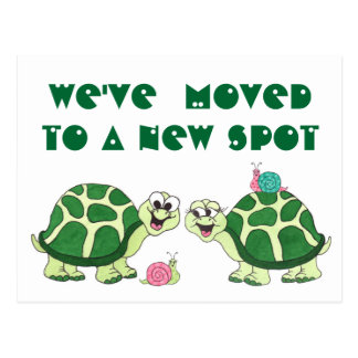 """Turtles  """"We've Moved"""" - Customizable Postcard"""