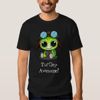 Turtley Awesome Cute Cartoon Turtle in Aviator Hat Shirts