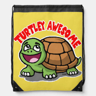 Turtley Awesome Drawstring Bag