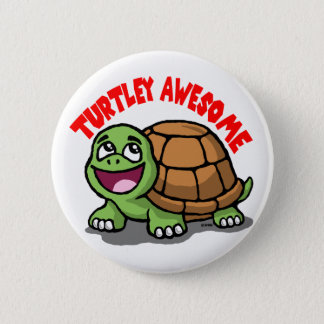 Turtley Awesome Pinback Button