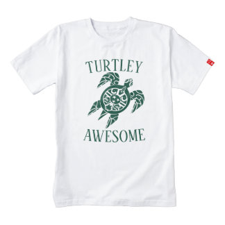 Turtley Awesome Tribal Turtle Zazzle HEART T-Shirt