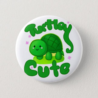 Turtley Cute Button