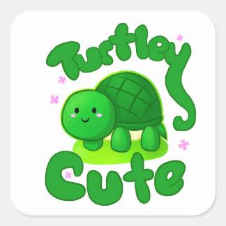 Turtley Cute Square Stickers