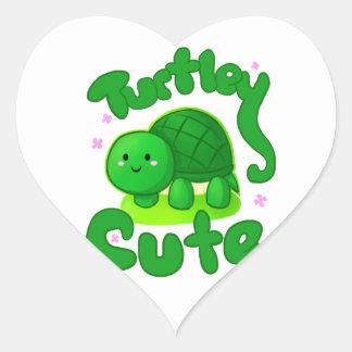 Turtley Cute Heart Stickers
