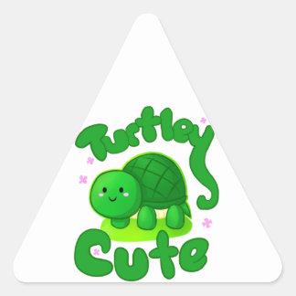 Turtley Cute Triangle Stickers