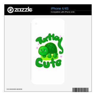 Turtley lindo iPhone 4 calcomanías