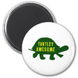 Turtley Totally Awesome 2 Inch Round Magnet