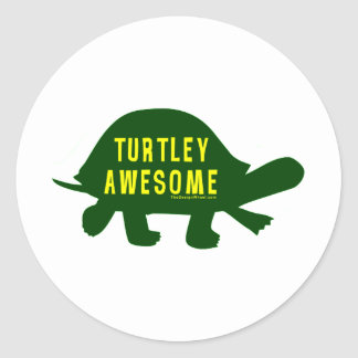 Turtley Totally Awesome Classic Round Sticker