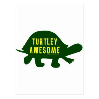Turtley Totally Awesome Postcard