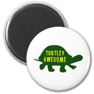 Turtley totalmente impresionante imán redondo 5 cm