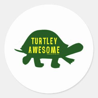 Turtley totalmente impresionante pegatina redonda