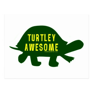 Turtley totalmente impresionante postal