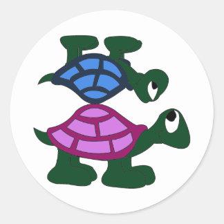 Turtlle Piggyback Sticker
