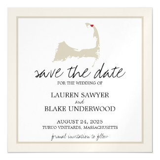 Turuo Cape Cod Wedding Save the Date Magnetic Card