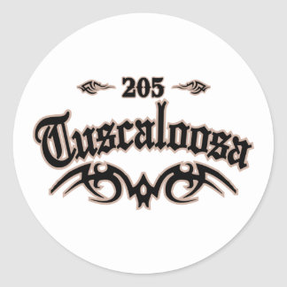 Tuscaloosa 205 classic round sticker