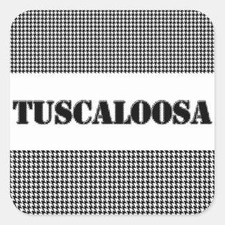 Tuscaloosa con Houndstooth (por MG Dezigns) Pegatina Cuadrada