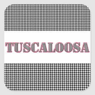 Tuscaloosa Red Outline (By MG Dezigns) Square Sticker