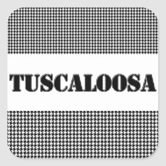 Tuscaloosa with Houndstooth (By MG Dezigns) Square Sticker
