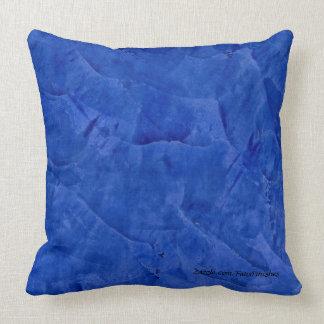 Tuscan Blue Faux Stone Pattern Throw Pillows