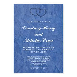 Tuscan Blue Hearts Wedding Invitations