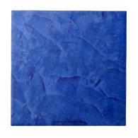 Tuscan Blue Venetian Plaster Ceramic Tile