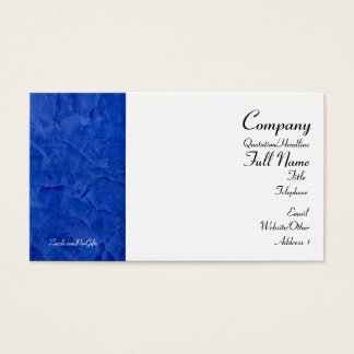 Tuscan Blue Wrapped Business Cards