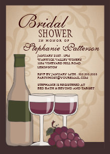 Tuscan invitations zazzle tuscan bridal shower wine themed invitation filmwisefo