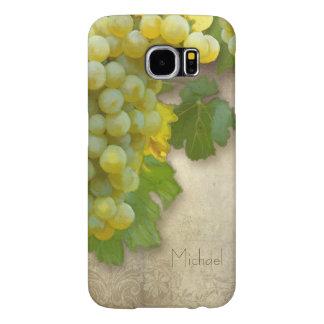 Tuscan Chardonnay Wine Grapes Rustic Vineyard Art Samsung Galaxy S6 Case