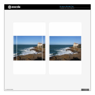 Tuscan coast in winter with Boccale castle Kindle Fire Decals