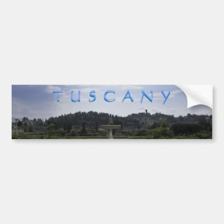 Tuscan Countryside Car Bumper Sticker
