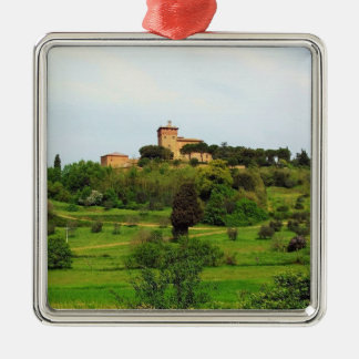 Tuscan Countryside Metal Ornament